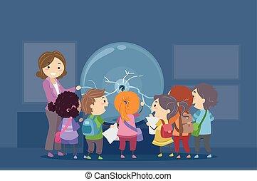 stickman, crianças, física, bola, plasma