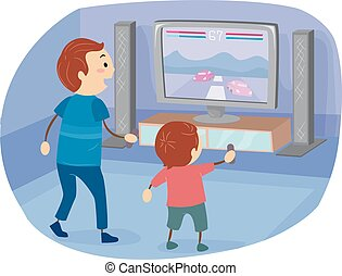 Stickman Family Boy Dad Video Game