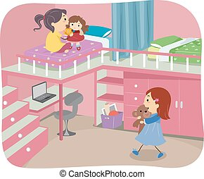 Stickman Girls Bedroom Loft