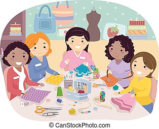 Stickman Girls Sewing Club