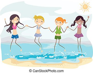 Stickman Girls Teen Beach