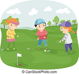 stickman, gosses, golf