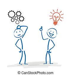 stickman, idea, rzecz, 2, mechanizmy, bulwa