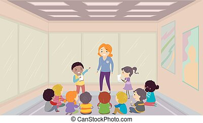 Stickman Kids Acting Workshop Illustration