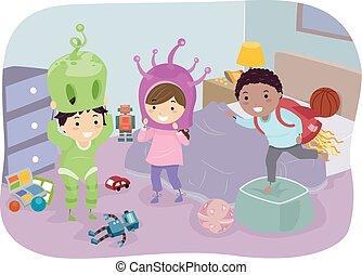 Stickman Kids Alien Costumes
