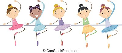 Stickman Kids Ballerinas Girls