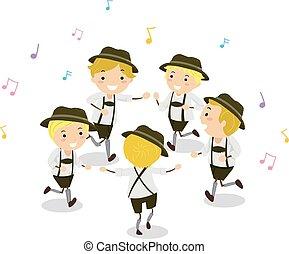 Stickman Kids Boys Schuhplattler Dance