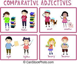 Stickman Kids Comparative Adjectives