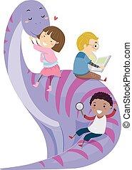Stickman Kids Dinosaur Play