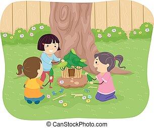 Stickman Kids Fairy House