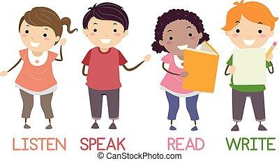 Stickman Kids Four Basic Skills English