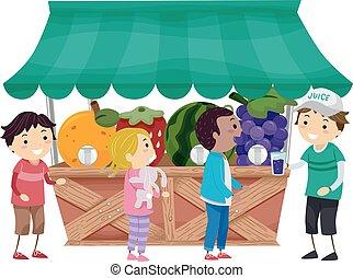 Stickman Kids Fruit Dispenser Stand