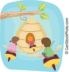 Stickman Kids Garden Bee Ride