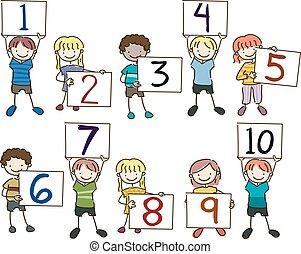Stickman Kids Numbers Board