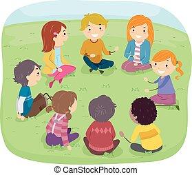 Stickman Kids Outdoor Conversation Circle