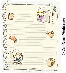 Stickman Kids Paper Pastries Illustration