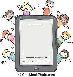 Stickman Kids Reader Illustration