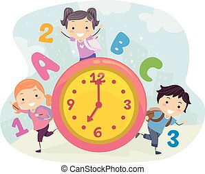 Stickman Kids School Time