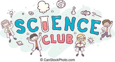 Stickman Kids Science Club Illustration