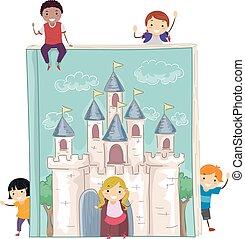 Stickman Kids Story Book Castle