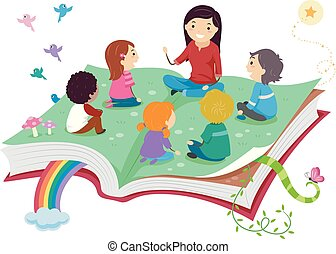 Stickman Kids Storytelling Big Book Illustration