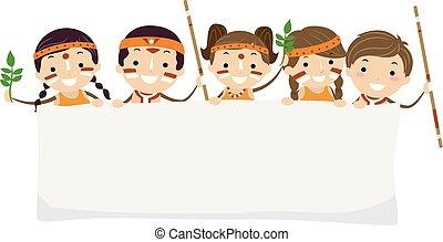Stickman Kids Yabun Festival Australian Banner