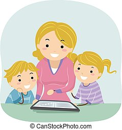 Stickman Mom Kids Ebook Read