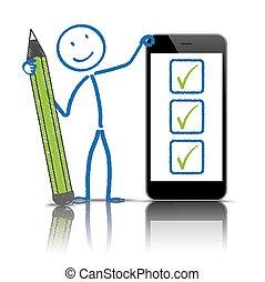 Stickman Pen Checklist Smartphone