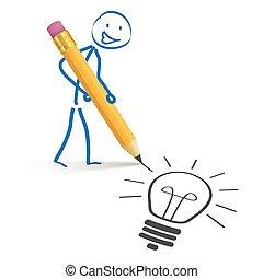 Stickman Pencil Idea