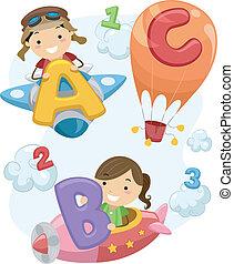 Stickman Preschool - Illustration of Stick Children Carrying...