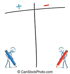 Stickman Pro Contra - Stickmen with pencils and pro and...