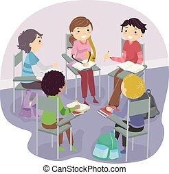 Stickman Teen Chair Group Study