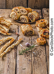 Sticks puff pastry