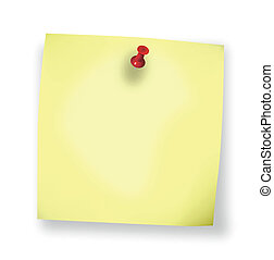 Sticky Blank Note Vector - sticky blank yellow note paper on...