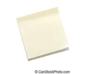 Sticky Note - A blank sticky note ready for a message.