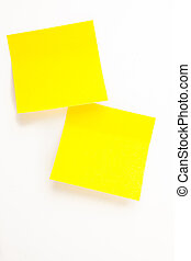 Sticky note against a white background
