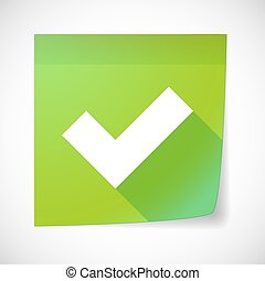 Sticky note icon with a check mark