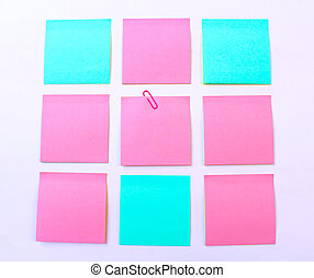 sticky note isolate on white background