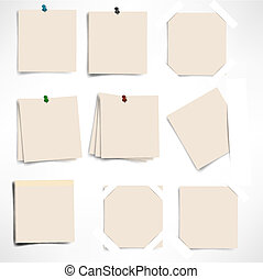 sticky note isolated on white background, vector illustration
