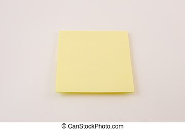 Sticky Note Isolated on White