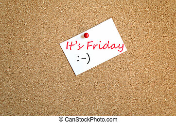 Sticky Note It's Friday Concept