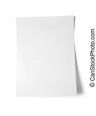 Sticky note on white background