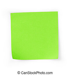 sticky note square reminder, isolated on white background with shadow