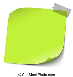 sticky note with pin needle - vector illustration of colored...