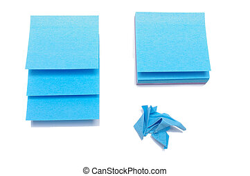 Sticky notes isolated on the white background