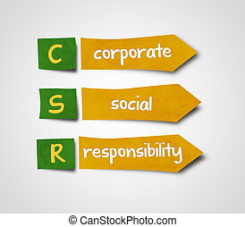 Sticky notes label paper csr concept