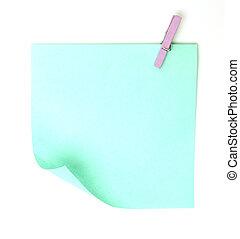 Sticky notes on a white background
