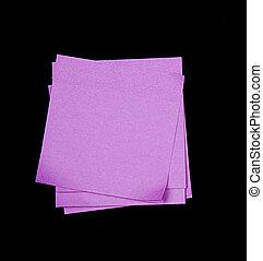 sticky notes on black - purple sticky note on black...