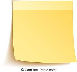 Sticky notes on white