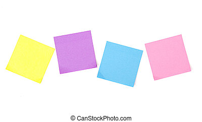sticky notes on white